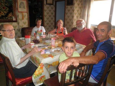 Comida en casa de los abuelos