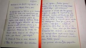 Carta de un estudiante al profesor de español